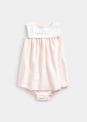 Ralph Lauren Bib-Collar Dress & Bloomer