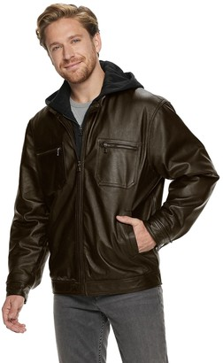 Men's Vintage Leather Hooded Jacket