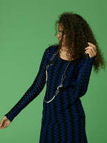 Diane von Furstenberg Scoop Neck Fitted Knit Top