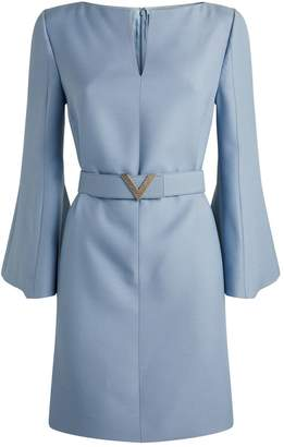 Valentino Belted Crepe Mini Dress