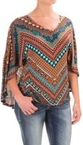 Wrangler Knit V-Neck Kimono Shirt - Short Sleeve (For Women)