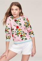 Milly Minis Rose Print Sweatshirt
