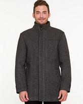 Le Château Wool Blend Funnel Neck Crombie Coat