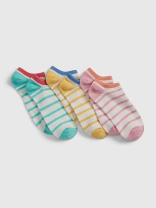 Gap Kids Fun Striped No-Show Socks (3-Pack)