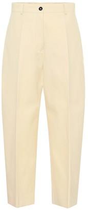 Jil Sander High-rise cotton-blend pants