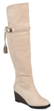 Journee Collection Jezebel Extra Wide Calf Over The Knee Wedge Boot