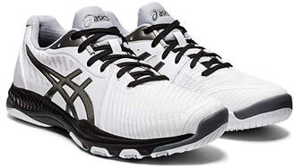 Asics Netburner Ballistic FF 2 (White/Gunmetal) Men's Shoes