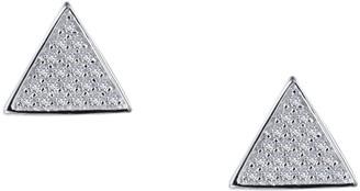 Lafonn Platinum Bonded Sterling Silver Triangle Shape Pave Simulated Diamond Stud Earrings