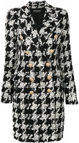 Balmain houndstooth tweed coat