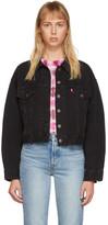 Levi's Levis Black Denim Pleated Trucker Jacket