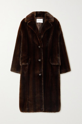 Stand Studio Theresa Faux Fur Coat - Brown