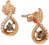LeVian Le Vian Chocolatier Diamond Drop Earrings (1/5 ct. t.w.) in 14k Rose Gold