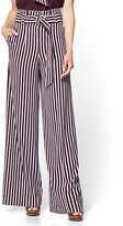 New York & Co. 7th Avenue Pant - Paperbag Waist Palazzo - Stripe