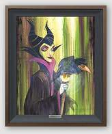 "Disney Fine Art Maleficent the Wicked by Stephen Fishwick Frame Dimensions: 24.25"" x 20.25"" Disney Sleeping Beauty Villain Silver Series Limited Edition on Canvas Framed Wall Art"