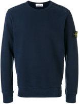 Stone Island logo patch sweatshirt - men - Cotton - XL
