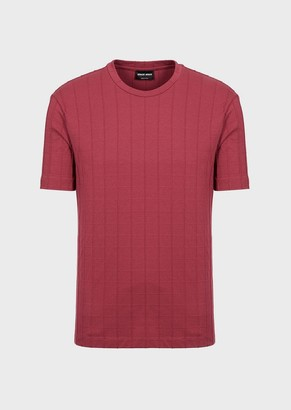 Giorgio Armani T-Shirt With Vertical Ribbing