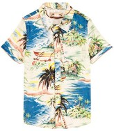 Scotch Shrunk Beach Print Shirt