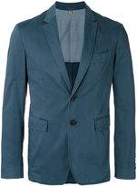 Burberry slim-fit blazer - men - Cotton/Spandex/Elastane - 46