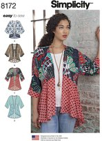 Simplicity 8172 Misses' Fashion Kimonos with Length, Fabric and Trim Variations, A (XX-Small/X-Small/Small/Medium/Large/X-Large/XX-Large)