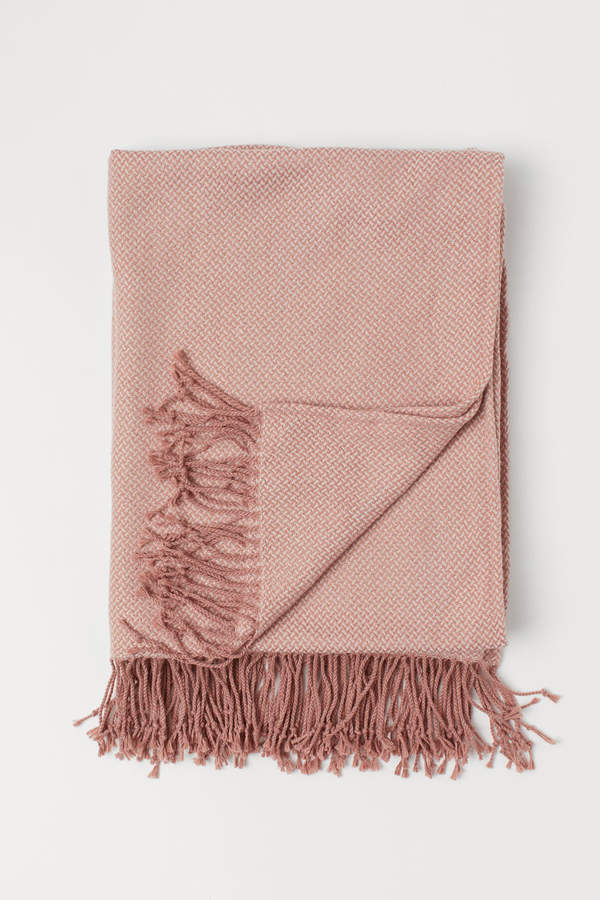 H&M - Jacquard-weave Throw - Pink