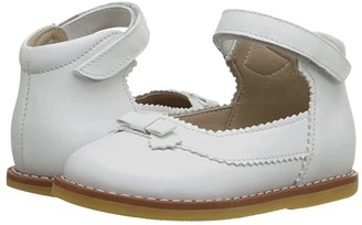 Elephantito Mary Jane w/ Bow (Infant/Toddler) (PTN White) Girls Shoes