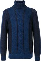 Loro Piana cable knit roll neck jumper