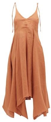 Fil De Vie - Tangier Handkerchief-hem Linen Dress - Womens - Tan