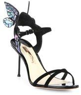 Sophia Webster Chiara Mid-Heel Wing Suede Sandals
