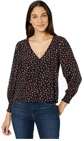 Sanctuary Noelle Smocked Sleeve Blouse (Red Party Pop) Women's Clothing
