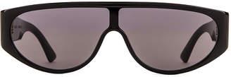 Bottega Veneta Original 027 Mask Sunglasses in Black   FWRD