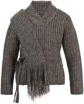 Craig Green Shawl-collar ribbed-bouclé sweater
