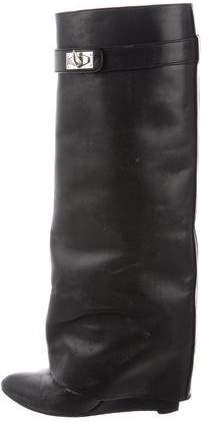 Givenchy Shark-Lock Wedge Boots