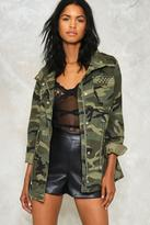 Nasty Gal nastygal At Ease Studded Camo Jacket