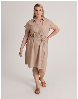 Piper Curve Belted Shirt Dress