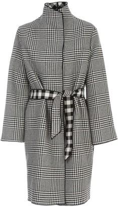 Emporio Armani Checked Coat W/belt