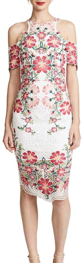 Thurley Flower Bomb Lace Midi Dress multi (8)