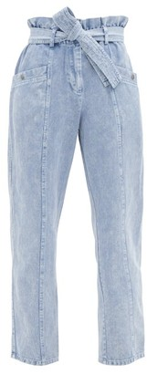 Sea Idun High-rise Paperbag-waist Jeans - Denim