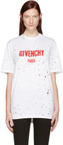 Givenchy White Destroyed Logo T-Shirt