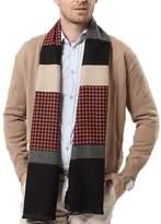 Panegy Long Scarf for Men Winter Warm Cashmere Shawl Business Muffler Elegant Wap - Gray