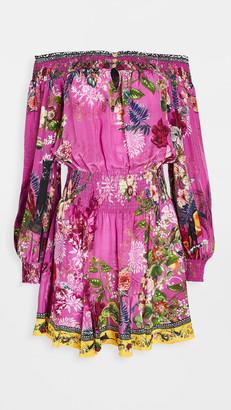 Camilla Off Shoulder Silk Dress