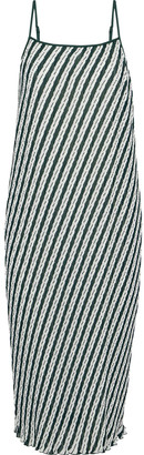 Diane von Furstenberg Printed Plisse-georgette Midi Dress