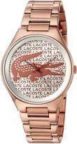Lacoste Women's 2000929 Valencia Analog Display Japanese Quartz Rose Gold Watch