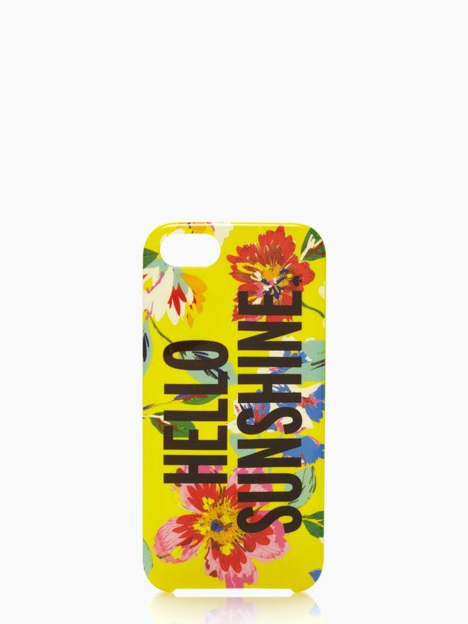 Kate Spade Hello sunshine iphone 5 case