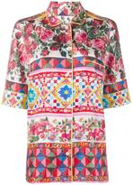 Dolce & Gabbana floral print pyjama top - women - Silk - 40