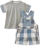 Calvin Klein 2-Pc. T-Shirt & Chambray Shortall Set, Baby Boys (0-24 Months)