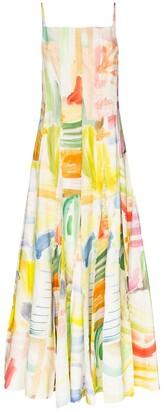 Rosie Assoulin Million Pleats printed maxi dress