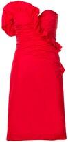 ALEXACHUNG Alexa Chung ruched strapless dress