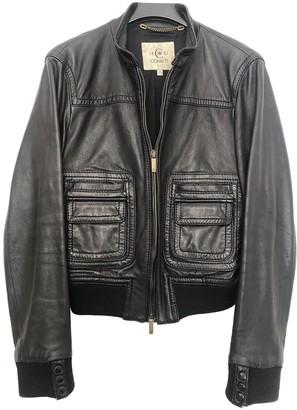 Cerruti Black Leather Leather Jacket for Women