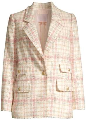 Rebecca Taylor Plaid Tweed Jacket