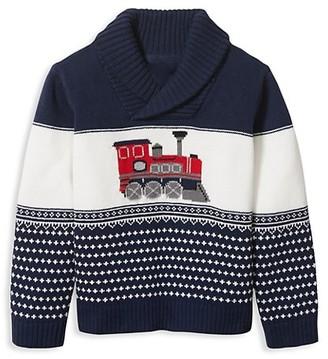 Janie and Jack Baby's, Little Boy's & Boy's Train Shawl-Collar Sweater